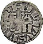 Photo numismatique  ARCHIVES VENTE 2015 -26-28 oct -Coll Jean Teitgen ROYALES FRANCAISES PHILIPPE II AUGUSTE (1180-1223)  9- Denier parisis, Montreuil-sur-Mer (Pas-de-Calais).