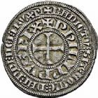 Photo numismatique  ARCHIVES VENTE 2015 -26-28 oct -Coll Jean Teitgen ROYALES FRANCAISES PHILIPPE IV LE BEL (5 octobre 1285-30 novembre 1314)  21- Gros tournois à l'O rond (1280-1290).