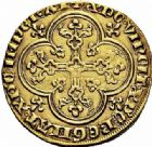 Photo numismatique  ARCHIVES VENTE 2015 -26-28 oct -Coll Jean Teitgen ROYALES FRANCAISES LOUIS X le Hutin (1314-1316)  31- Agnel d'or (6 mai 1315).