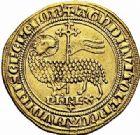 Photo numismatique  ARCHIVES VENTE 2015 -26-28 oct -Coll Jean Teitgen ROYALES FRANCAISES PHILIPPE V LE LONG (1316-1322)  32- Agnel d'or (8 décembre 1316).