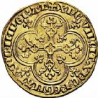 Photo numismatique  ARCHIVES VENTE 2015 -26-28 oct -Coll Jean Teitgen ROYALES FRANCAISES PHILIPPE V LE LONG (1316-1322)  32- Agnel d'or (8 décembre 1316).