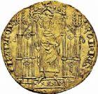 Photo numismatique  ARCHIVES VENTE 2015 -26-28 oct -Coll Jean Teitgen ROYALES FRANCAISES CHARLES IV LE BEL (3 janvier 1322–1er février 1328)  34- Royal d'or (16 février 1326).