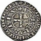 Photo numismatique  ARCHIVES VENTE 2015 -26-28 oct -Coll Jean Teitgen ROYALES FRANCAISES CHARLES IV LE BEL (3 janvier 1322–1er février 1328)  36- Maille blanche, 2ème émission (juillet 1324).