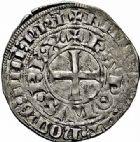 Photo numismatique  ARCHIVES VENTE 2015 -26-28 oct -Coll Jean Teitgen ROYALES FRANCAISES CHARLES IV LE BEL (3 janvier 1322–1er février 1328)  37- Maille blanche, 2ème émission.