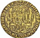 Photo numismatique  ARCHIVES VENTE 2015 -26-28 oct -Coll Jean Teitgen ROYALES FRANCAISES PHILIPPE VI DE VALOIS(1er avril 1328-22 août 1350)  39- Parisis d'or (6 septembre 1329).