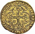 Photo numismatique  ARCHIVES VENTE 2015 -26-28 oct -Coll Jean Teitgen ROYALES FRANCAISES PHILIPPE VI DE VALOIS(1er avril 1328-22 août 1350)  41- Écu d'or à la chaise de la 1ère émission (1er janvier 1337).