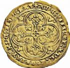 Photo numismatique  ARCHIVES VENTE 2015 -26-28 oct -Coll Jean Teitgen ROYALES FRANCAISES JEAN II LE BON (22 août 1350-18 avril 1364)  47- Écu d'or à la chaise, 4ème émission (22 septembre 1351).