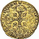 Photo numismatique  ARCHIVES VENTE 2015 -26-28 oct -Coll Jean Teitgen ROYALES FRANCAISES JEAN II LE BON (22 août 1350-18 avril 1364)  48- Mouton d'or (17 janvier 1355).