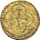 Photo numismatique  ARCHIVES VENTE 2015 -26-28 oct -Coll Jean Teitgen ROYALES FRANCAISES JEAN II LE BON (22 août 1350-18 avril 1364)  50-Franc d'or à cheval (5 décembre 1360).