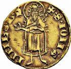 Photo numismatique  ARCHIVES VENTE 2015 -26-28 oct -Coll Jean Teitgen ROYALES FRANCAISES JEAN II LE BON (22 août 1350-18 avril 1364)  51- Florin d'or, émission pour le Languedoc, (21 février 1360), Montpellier (?).