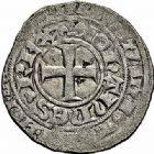 Photo numismatique  ARCHIVES VENTE 2015 -26-28 oct -Coll Jean Teitgen ROYALES FRANCAISES JEAN II LE BON (22 août 1350-18 avril 1364)  56- Blanc au châtel fleurdelisé, 1ère émission (16 janvier 1356).