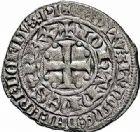 Photo numismatique  ARCHIVES VENTE 2015 -26-28 oct -Coll Jean Teitgen ROYALES FRANCAISES JEAN II LE BON (22 août 1350-18 avril 1364)  57- Gros au châtel fleurdelisé (23 novembre 1356).