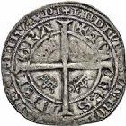 Photo numismatique  ARCHIVES VENTE 2015 -26-28 oct -Coll Jean Teitgen ROYALES FRANCAISES JEAN II LE BON (22 août 1350-18 avril 1364)  64- Gros blanc aux fleurs de lis (5 décembre 1360).