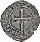Photo numismatique  ARCHIVES VENTE 2015 -26-28 oct -Coll Jean Teitgen ROYALES FRANCAISES JEAN II LE BON (22 août 1350-18 avril 1364)  68- Denier tournois, 3ème type, 1ère émission (30 décembre 1355 et 16 janvier 1356).
