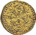 Photo numismatique  ARCHIVES VENTE 2015 -26-28 oct -Coll Jean Teitgen ROYALES FRANCAISES CHARLES V (8 avril 1364-16 septembre 1380)  69- Franc d'or à cheval (3 septembre 1364).