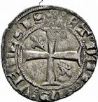Photo numismatique  ARCHIVES VENTE 2015 -26-28 oct -Coll Jean Teitgen ROYALES FRANCAISES CHARLES V (8 avril 1364-16 septembre 1380)  73- Pièce de 18 deniers.