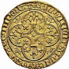 Photo numismatique  ARCHIVES VENTE 2015 -26-28 oct -Coll Jean Teitgen ROYALES FRANCAISES CHARLES VI (16 septembre 1380-21 octobre 1422)  74- Écu d'or, 4ème émission (29 juillet 1394), Romans.
