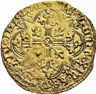 Photo numismatique  ARCHIVES VENTE 2015 -26-28 oct -Coll Jean Teitgen ROYALES FRANCAISES CHARLES VI (16 septembre 1380-21 octobre 1422)  75- Agnel d'or de la 1ère émission (10 mai 1417), Toulouse.