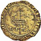 Photo numismatique  ARCHIVES VENTE 2015 -26-28 oct -Coll Jean Teitgen ROYALES FRANCAISES CHARLES VI (16 septembre 1380-21 octobre 1422)  76- Agnel d'or de la 2ème émission (21 octobre 1417), Paris.