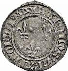 Photo numismatique  ARCHIVES VENTE 2015 -26-28 oct -Coll Jean Teitgen ROYALES FRANCAISES CHARLES VI (16 septembre 1380-21 octobre 1422)  78- Gros aux lis (7 juin 1413).