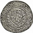 Photo numismatique  ARCHIVES VENTE 2015 -26-28 oct -Coll Jean Teitgen ROYALES FRANCAISES CHARLES VI (16 septembre 1380-21 octobre 1422)  79- Grossus ou gros aux lis sous une couronne (3 novembre 1413), Tournai.