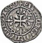 Photo numismatique  ARCHIVES VENTE 2015 -26-28 oct -Coll Jean Teitgen ROYALES FRANCAISES CHARLES VI (16 septembre 1380-21 octobre 1422) Monnayage du dauphin régent 82-  Florette, 3ème émission (fin mai 1419), La Rochelle.