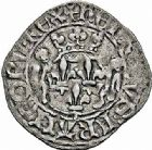 Photo numismatique  ARCHIVES VENTE 2015 -26-28 oct -Coll Jean Teitgen ROYALES FRANCAISES HENRI V, roi de France et d'Angleterre (1415-1422)  84- Florette, 3ème émission (12 janvier 1420), Rouen.