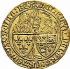 Photo numismatique  ARCHIVES VENTE 2015 -26-28 oct -Coll Jean Teitgen ROYALES FRANCAISES HENRI VI, roi de France et d'Angleterre (31 octobre 1422–19 octobre 1453)  86- Salut d'or de la 2ème émission (6 septembre 1423), Rouen.