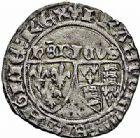 Photo numismatique  ARCHIVES VENTE 2015 -26-28 oct -Coll Jean Teitgen ROYALES FRANCAISES HENRI VI, roi de France et d'Angleterre (31 octobre 1422–19 octobre 1453)  89- Blanc aux écus (23 novembre 1422), Saint-Lô.
