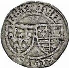 Photo numismatique  ARCHIVES VENTE 2015 -26-28 oct -Coll Jean Teitgen ROYALES FRANCAISES HENRI VI, roi de France et d'Angleterre (31 octobre 1422–19 octobre 1453)  90- Petit blanc aux écus (4 juin 1423), Rouen.