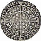 Photo numismatique  ARCHIVES VENTE 2015 -26-28 oct -Coll Jean Teitgen ROYALES FRANCAISES HENRI VI, roi de France et d'Angleterre (31 octobre 1422–19 octobre 1453)  93- Gros, (1431-1433).