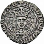 Photo numismatique  ARCHIVES VENTE 2015 -26-28 oct -Coll Jean Teitgen ROYALES FRANCAISES HENRI VI, roi de France et d'Angleterre (31 octobre 1422–19 octobre 1453)  94- Esterlin ou Penny, (1431-1433).