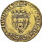 Photo numismatique  ARCHIVES VENTE 2015 -26-28 oct -Coll Jean Teitgen ROYALES FRANCAISES CHARLES VII (30 octobre 1422-22 juillet 1461)  95- Écu d'or dit «écu vieux», 3ème émission (août 1424), Toulouse.