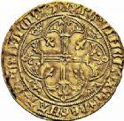 Photo numismatique  ARCHIVES VENTE 2015 -26-28 oct -Coll Jean Teitgen ROYALES FRANCAISES CHARLES VII (30 octobre 1422-22 juillet 1461)  96- Royal d'or de la 1ère émission (9 octobre 1429), Montélimar.