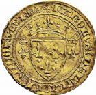 Photo numismatique  ARCHIVES VENTE 2015 -26-28 oct -Coll Jean Teitgen ROYALES FRANCAISES CHARLES VII (30 octobre 1422-22 juillet 1461)  97- Écu d'or à la couronne dit «écu neuf», 4ème émission (26 mai 1447), Tournai.
