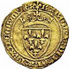 Photo numismatique  ARCHIVES VENTE 2015 -26-28 oct -Coll Jean Teitgen ROYALES FRANCAISES CHARLES VII (30 octobre 1422-22 juillet 1461)  98- Demi-écu d'or de la 4ème émission (26 mai 1447), Paris.