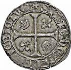 Photo numismatique  ARCHIVES VENTE 2015 -26-28 oct -Coll Jean Teitgen ROYALES FRANCAISES CHARLES VII (30 octobre 1422-22 juillet 1461)  101- Blanc aux lis accotés (9 octobre 1429), La Rochelle.