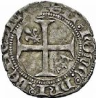 Photo numismatique  ARCHIVES VENTE 2015 -26-28 oct -Coll Jean Teitgen ROYALES FRANCAISES CHARLES VII (30 octobre 1422-22 juillet 1461)  102- Petit blanc aux lis accotés (9 octobre 1429).