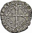 Photo numismatique  ARCHIVES VENTE 2015 -26-28 oct -Coll Jean Teitgen ROYALES FRANCAISES CHARLES VII (30 octobre 1422-22 juillet 1461)  103- Blanc dentillé, 1ère émission (5 avril 1431), Bourges.