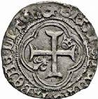 Photo numismatique  ARCHIVES VENTE 2015 -26-28 oct -Coll Jean Teitgen ROYALES FRANCAISES CHARLES VII (30 octobre 1422-22 juillet 1461)  105- Petit blanc à la couronne, 4ème émission (16 juin 1455), Montpellier.