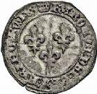 Photo numismatique  ARCHIVES VENTE 2015 -26-28 oct -Coll Jean Teitgen ROYALES FRANCAISES CHARLES VII (30 octobre 1422-22 juillet 1461)  109- 1/2 plaque ou gros, 3ème émission (19 septembre 1432 - 25octobre 1433).