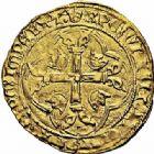 Photo numismatique  ARCHIVES VENTE 2015 -26-28 oct -Coll Jean Teitgen ROYALES FRANCAISES LOUIS XI (22 juillet 1461-30 août 1483)  110- Écu d'or à la couronne, 1ère émission (31 décembre 1461), Montpellier.