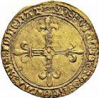 Photo numismatique  ARCHIVES VENTE 2015 -26-28 oct -Coll Jean Teitgen ROYALES FRANCAISES LOUIS XI (22 juillet 1461-30 août 1483)  111- Écu d'or au soleil (2 novembre 1475), Saint-Lô.