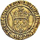 Photo numismatique  ARCHIVES VENTE 2015 -26-28 oct -Coll Jean Teitgen ROYALES FRANCAISES LOUIS XI (22 juillet 1461-30 août 1483)  112- Demi-écu d'or au soleil (2 novembre 1475), Toulouse.