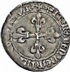Photo numismatique  ARCHIVES VENTE 2015 -26-28 oct -Coll Jean Teitgen ROYALES FRANCAISES LOUIS XI (22 juillet 1461-30 août 1483)  114- Gros de roi, (31 décembre 1461), Perpignan.