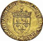 Photo numismatique  ARCHIVES VENTE 2015 -26-28 oct -Coll Jean Teitgen ROYALES FRANCAISES CHARLES VIII (20 août 1483-7 avril 1498)  117- Écu d'or au soleil, 1ère émission (11 septembre 1483), Tours.