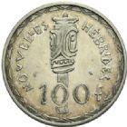Photo numismatique  MONNAIES MONNAIES DU MONDE NOUVELLES-HEBRIDES 5e République (depuis 1958) Essai de 100 francs de 1966.