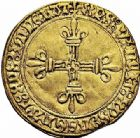 Photo numismatique  ARCHIVES VENTE 2015 -26-28 oct -Coll Jean Teitgen ROYALES FRANCAISES CHARLES VIII (20 août 1483-7 avril 1498)  118- Écu d'or au soleil, 2ème émission (8 juillet 1494), Châlons-en-Champagne.
