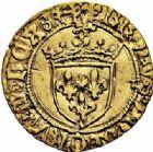Photo numismatique  ARCHIVES VENTE 2015 -26-28 oct -Coll Jean Teitgen ROYALES FRANCAISES CHARLES VIII (20 août 1483-7 avril 1498)  119- 1/2 écu d'or au soleil, 2ème émission (8 juillet 1494), Bayonne.