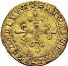 Photo numismatique  ARCHIVES VENTE 2015 -26-28 oct -Coll Jean Teitgen ROYALES FRANCAISES CHARLES VIII (20 août 1483-7 avril 1498)  120- Écu d'or au soleil du Dauphiné, 1er type, Grenoble.